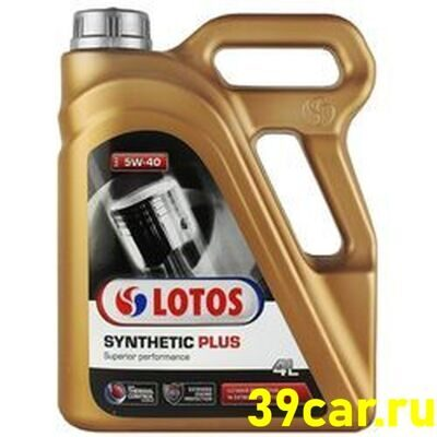 LOTOS Масло моторное  5w40 SYNTHETIC PLUS 4л