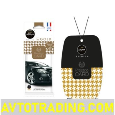 Ароматизатор AROMA CAR бумажный PRESTIGE CARD GOLD