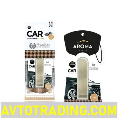 Ароматизатор AROMA CAR мембранный PRESTIGE DROP CONTROL GOLD